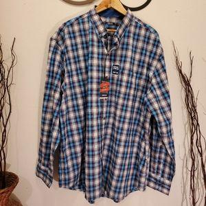 IZOD ,Plaid Men's Shirt Plus XXl